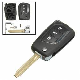 Llave del coche a distancia cubierta fob flip 3 botón para toyota yaris eco Tarago Camry RAV4 collara