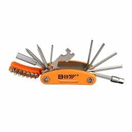 19 en 1 reparación de bicicleta herramienta hexagonal Destornillador Llave conjunto con llave de boca abierta habló Llav