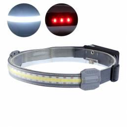 SMD High Power COB LED Linterna frontal USB recargable Luz de cabeza de funcionamiento nocturno cámping Caza pesca Linte