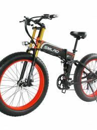 SMLRO S11PLUS 48V 13Ah 750W 26in neumático gordo bicicleta ciclomotor eléctrica plegable 35 km / h bicicleta eléctrica d