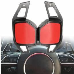Coche Gear Shift Anillo de acero de la rueda de la paleta de extensión de Audi A1 A3 A4 A6 A7 A8 Q5 Q7