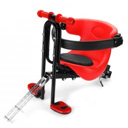 BIKIGHT Bicicleta Asiento de bebé Seguridad para niños Silla de pasamanos con pedales Soporte Respaldo al aire libre Cic