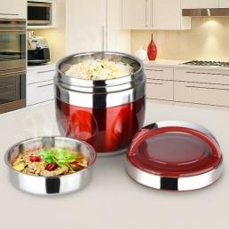 Almuerzo térmico de acero inoxidable de 1.2 L 1.5 L Caja Bento Food Container Storage Bolsa