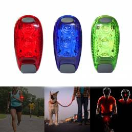 3 LED Luz para correr Ciclismo nocturno Luz de seguridad Luz trasera para bicicleta Cascos Clip Lámpara Luz de brazo súp