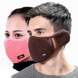 Invierno Mascara orejas de protección estiradas a prueba de viento Mascara Anti polvo Mascara boca Mascara orejeras de b