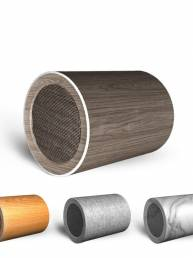 -8 Wood Grain Wireless Bluetooth 5.0 Altavoz al aire libre Doodle Mini Speaker Soundbar