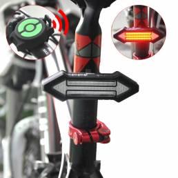 Luz de bicicleta de control remoto inteligente BIKIGHT LED de advertencia de anillo de acero con láser