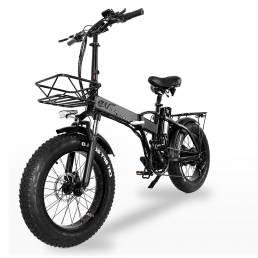 CMACEWHEEL GW20 48V 15Ah 750W 20in bicicleta eléctrica plegable 30-45 km / h velocidad 80-100 km freno de disco de kilom