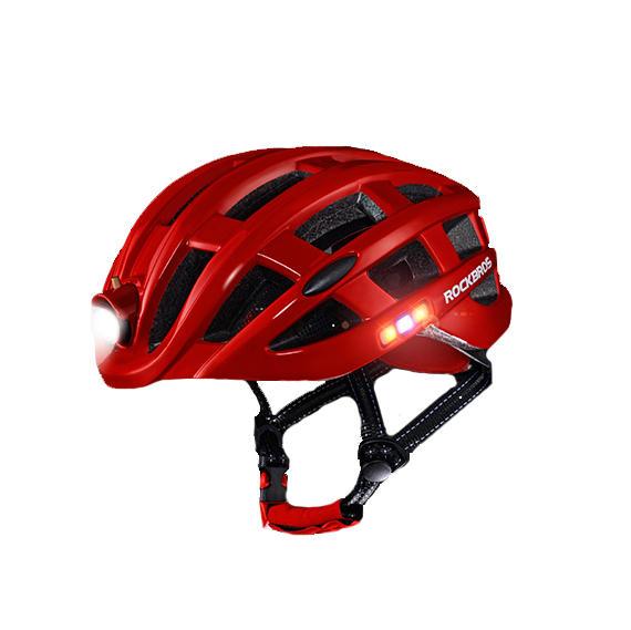 ROCKBROS 400 Lúmenes 3 Modos Casco de ciclismo Casco ultraligero impermeable Casco de bicicleta de montaña MTB Casco de