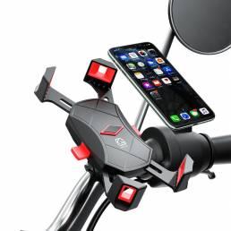 4.7-6.5 pulgadas Soporte para teléfono para bicicleta a prueba de golpes ajustable GPS Soporte para clip para teléfono M