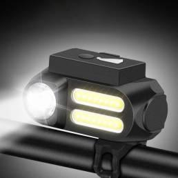 XANES® XL42 650LM XPE Faro delantero Distancia lejana Bicicleta Luz delantera USB recargable 4 modos 90 Ajustable Imperm
