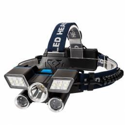 XANES TM-G20 1600LM L2 + T6 + Parche Blanco / Rojo Azul Linterna frontal ajustable USB recargable Impermeable al aire li