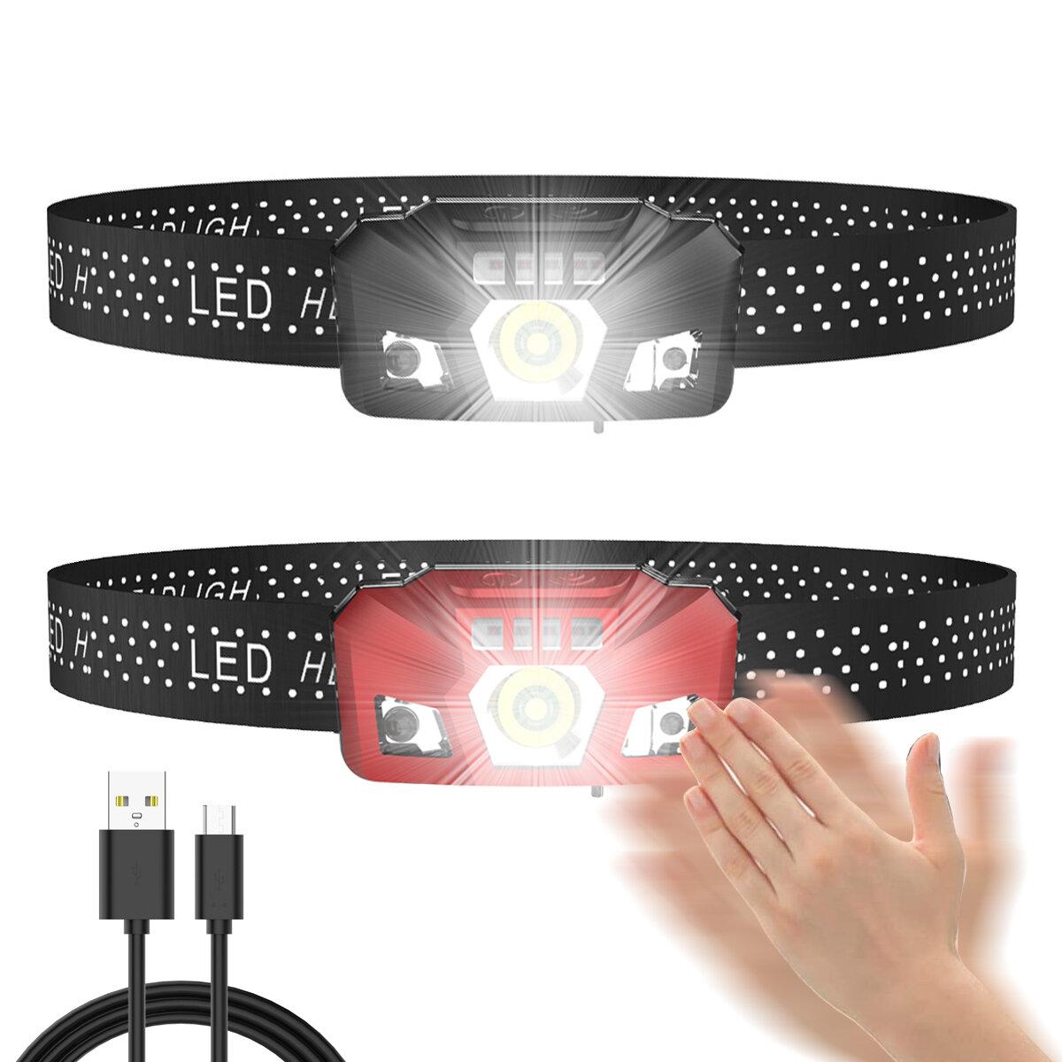 XPE / XPG LED Linterna frontal 3 modos USB Antorcha táctica recargable Luz al aire libre cámping Ciclismo