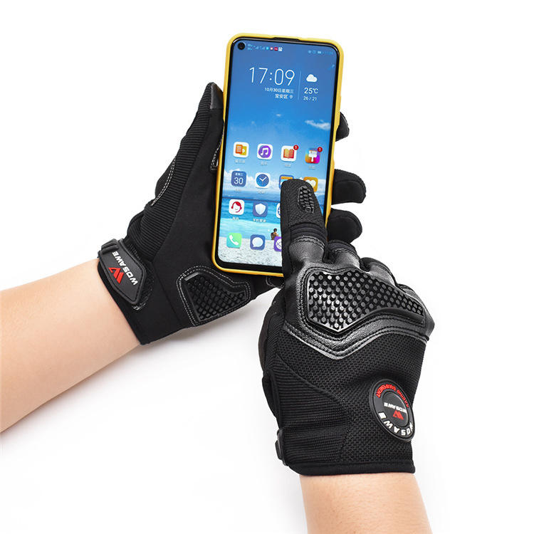 WOSAWE Touch Screen Full Finger Motocycle Guantes Bicicleta Moto Montar Off-Road Guantes Hombres Mujer