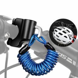 Mini casco de bicicleta WEST BIKING cerradura Cable de aleación antirrobo cerradura para casco Bolsa Moto Accesorios de
