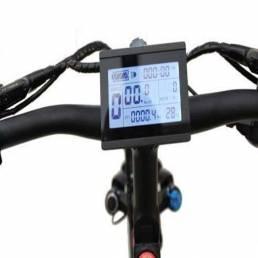 RISUNMOTOR 24 V / 36 V / 48 V / 60 V / 72 V LCD3 Pantalla Medidor Panel de control E-Bike DIY Kit de conversión Piezas