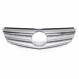 Parrilla de parrilla superior delantera de plata cromada para Mercedes Benz Clase C W204 C180 C200 C300 C350 2008-2014