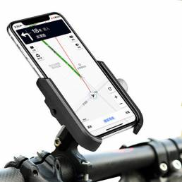 Soporte universal para teléfono BIKIGHT de aleación de aluminio 4.5-6.8 pulgadas Soporte de clip de teléfono ajustable d