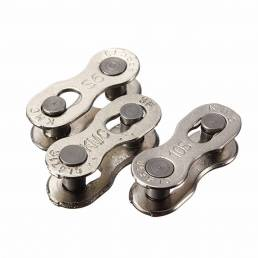 Dos cadenas de bicicleta de plata duraderas KMC Magia hebilla de 6-7-8-9-10 botón de velocidad