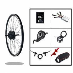 BIKIGHT KT-LCD8S Pantalla Kit de conversión de bicicleta eléctrica 24 V 250 W tracción delantera motor Buje de rueda de