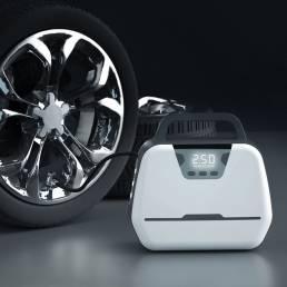 BIKIGHT 150PSI 120W Bomba de bicicleta de alta potencia Digital Coche Inflador de neumáticos con 3 modos LED Linterna pa