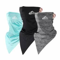 Verano Protección solar Triángulo Bufanda Hielo Seda Protección contra el polvo Cuello Cara a prueba de viento Mascara B