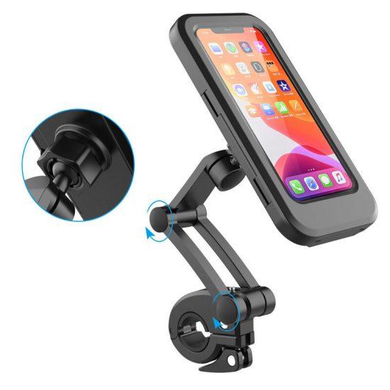 Ajustable Impermeable Soporte para teléfono para bicicleta Bicicleta universal Moto Soporte para manillar Soporte para t