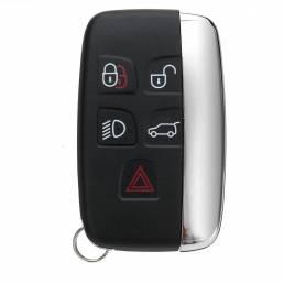 5 Botón Control remoto Llave Shell Caso con Batería para LAND ROVER LR4 Range Rover Sport Evoque Freelander 2