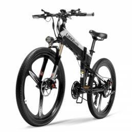 Bicicleta eléctrica de ciclomotor plegable LANKELEISI XT600 12