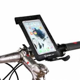 WHEEL UP Bicicleta Impermeable Handlebar Touchscreen Teléfono Bolsa Universal 360 Rotataing Quick Release
