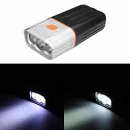 BIKIGHT 800LM T6/L2 Luz de bicicleta Bicicleta de montaña LED Linterna Faros de conducción nocturna Carga USB