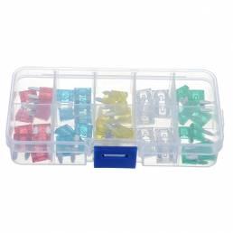 50 Pcs 10A a 30A Mini Tamaño Auto Insurance Tablets Fuse Kit Seguro de coche Tablets Blade