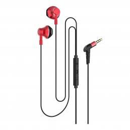 Bakeey R12 Auriculares estéreo universales en la oreja Control con cable de metal 3.5mm Music Gaming Auricular con micró