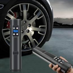 BIKIGHT 150PSI 12V Mini bomba de aire bicicleta LCD Inflador de neumáticos eléctrico inalámbrico recargable USB digital