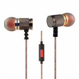 EDR1 kz bajo pesado auriculares in-ear con el mic para PC de la tableta del teléfono móvil