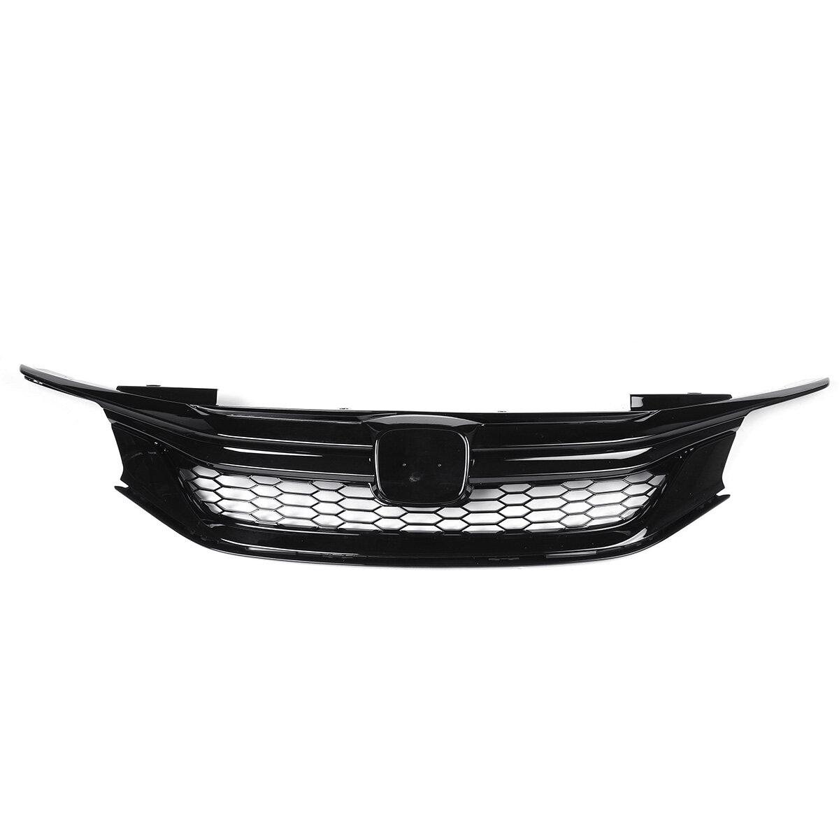 Sport Style Front Coche Rejilla parachoques delantero para 16-17 9th Gen HD Accord Sedan Glossy Black JDM
