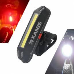 XANES2en1500LMBicicleta USB Recargable LED Luz Delantera de la Bicicleta Luz Trasera Luz de Advertencia Ultra-Liger