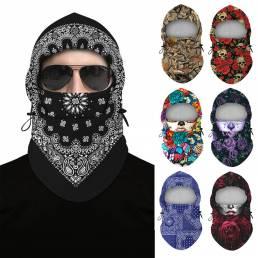 Diademas de ciclismo con impresión digital Anti-UV Nylon pasamontañas transpirable bufanda de esquí para hombres bicicle