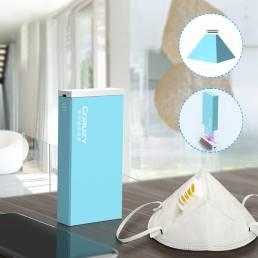 Plegable LED UV Esterilización Lámpara Caja Carga USB Portátil 3mins Mascara Luz ultravioleta esterilizadora para tazas