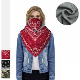 BIKIGHT Bufandas faciales Invierno Cálido Pañuelo polar Cuello Protector Triángulo Mascara Esquí térmico Polaina Senderi