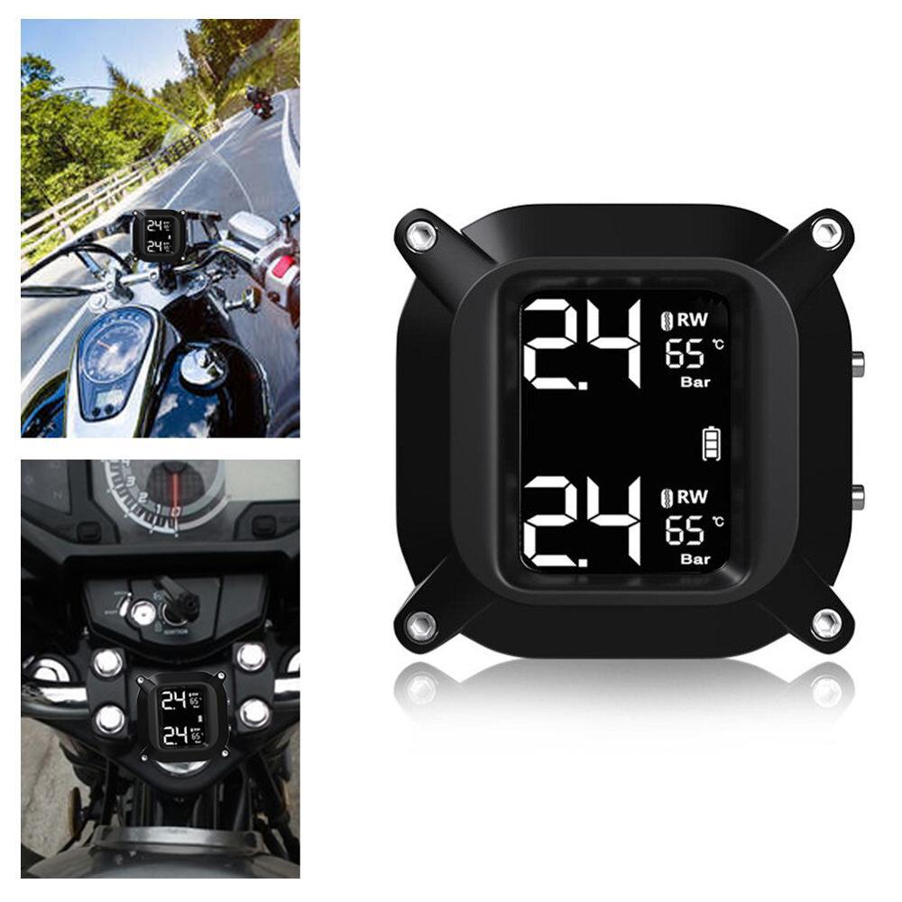 BIKIGHT MX6 Impermeable Inalámbrico LCD Bicicleta eléctrica TPMS Sistema de control de presión de neumáticos TH / WI ext