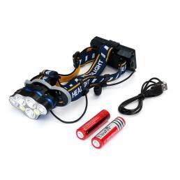 XANES 2606-7 1900LM 3 * T6 + 2 * XPE + 2 * COB 8 modos Faro de bicicleta con 2 * 18650 Batería Interfaz USB