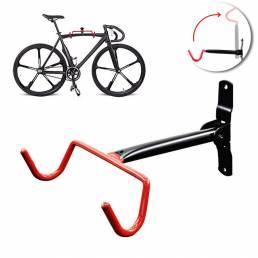 Carga máxima 15KG Bicicleta de montaje en pared ajustable Bicicleta Gancho Rack Percha Ciclismo Flip Up Storage Garaje T