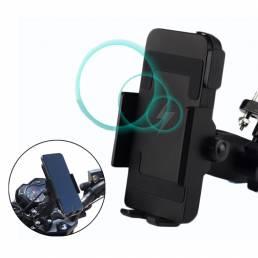 BIKIGHT 12-120V Moto Soporte para teléfono para bicicleta Soporte para teléfono móvil de carga inalámbrica Soporte para