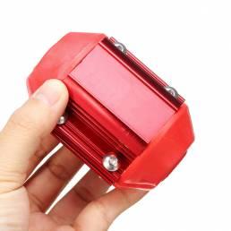 Universal Rojo Coche Magnético Oil Gas Combustible Ahorro de energía Camiones Economizador de rendimiento