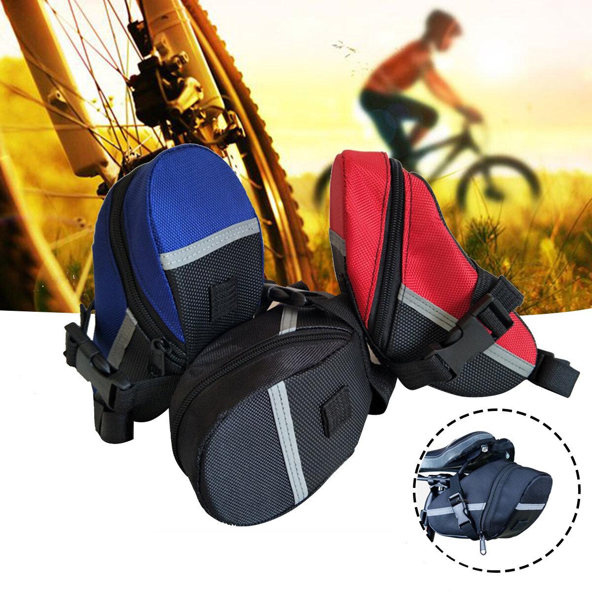 Sillín de bicicleta BIKIGHT Bolsa Asiento trasero de bicicleta Bolsa Cuero PU Impermeable Almacenamiento trasero Bolsa a