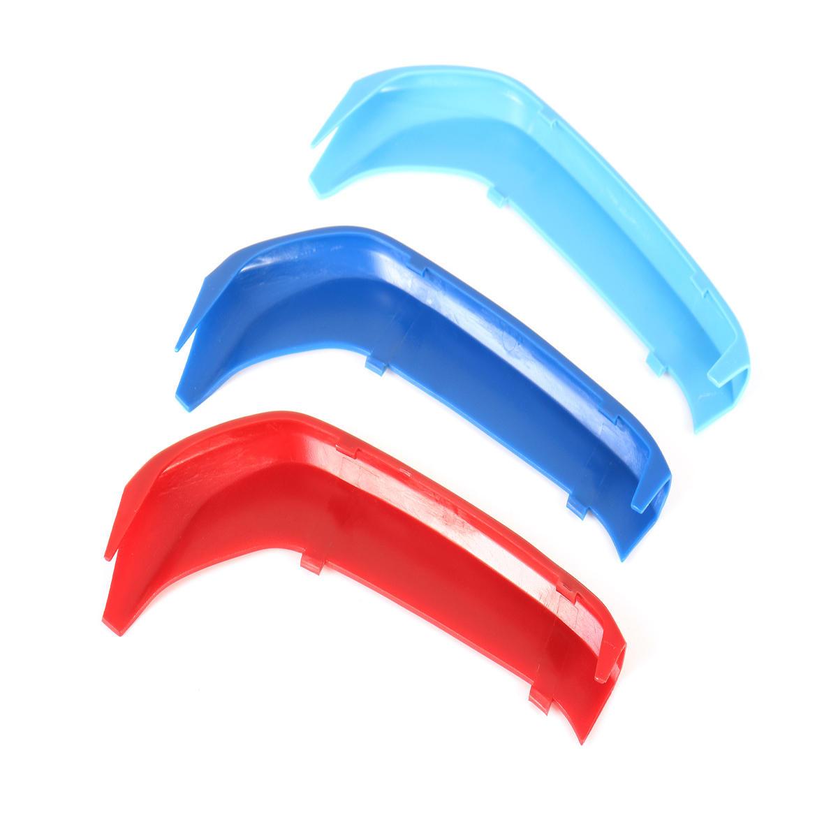 3 piezas de plástico tricolor frontal centro parrilla cubierta ajuste para bmw serie 1 F20/F21 15-16