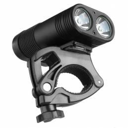 3000LM Doble LED Luz de cabeza de bicicleta recargable Bicicleta Type-C Lámpara + Faro de montaje giratorio