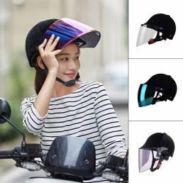 BIKIGHT Casco de montar transpirable con lentes Moto Gafas de motociclista Protector de parabrisas ajustable al aire lib