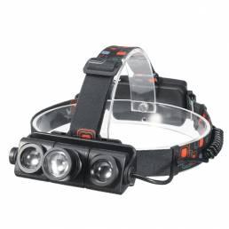 XANES® 1200LM 1xT6 + 2xQ5 LED Faro de bicicleta 4 modos 180 ° Bicicleta ajustable Ciclismo Impermeable pesca Linterna de